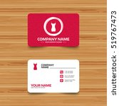 business card template with... | Shutterstock .eps vector #519767473