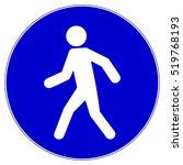 pedestrian route mandatory sign ... | Shutterstock .eps vector #519768193