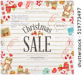christmas sale poster. white... | Shutterstock .eps vector #519773497