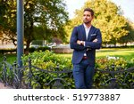 a handsome young businessman...   Shutterstock . vector #519773887
