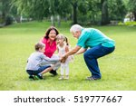 happy old grandparents having... | Shutterstock . vector #519777667