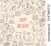 greeting text and sketch... | Shutterstock .eps vector #519780373