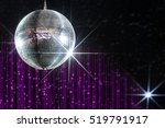 party disco ball with stars in...
