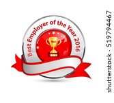 best employer of the year 2016  ... | Shutterstock .eps vector #519794467