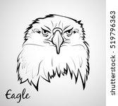 vector head eagle logo from... | Shutterstock .eps vector #519796363