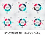 vector arrows infographic set.... | Shutterstock .eps vector #519797167