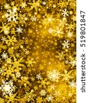 gold and white snowflakes on a... | Shutterstock . vector #519801847