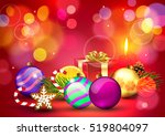 christmas. background with... | Shutterstock .eps vector #519804097