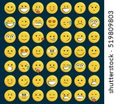 set of emoticons  icon pack ... | Shutterstock .eps vector #519809803