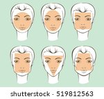 set of different female face... | Shutterstock .eps vector #519812563