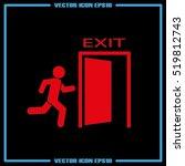 exit icon vector illustration... | Shutterstock .eps vector #519812743