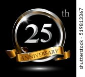 25th silver gold anniversary... | Shutterstock .eps vector #519813367