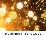 Golden Background. Defocused...