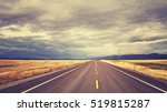 vintage toned countryside road...   Shutterstock . vector #519815287