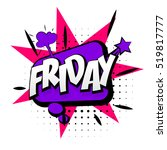 comic text friday sound effect... | Shutterstock .eps vector #519817777