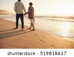rear view of a senior couple... | Shutterstock . vector #519818617