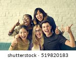 diversity students friends... | Shutterstock . vector #519820183