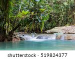 y.s. falls  jamaica   lower... | Shutterstock . vector #519824377