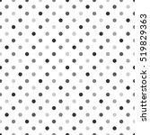 seamless polka dot pattern.... | Shutterstock .eps vector #519829363