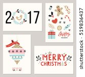 happy new year and winter... | Shutterstock .eps vector #519836437