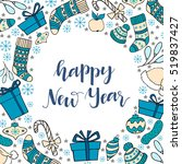 new year greeting card with... | Shutterstock .eps vector #519837427