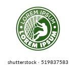 climbing athlete  vector logo...   Shutterstock .eps vector #519837583