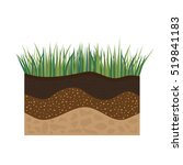 soil profile and horizons ... | Shutterstock .eps vector #519841183