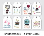 christmas  new year gift tags... | Shutterstock .eps vector #519842383