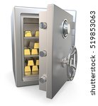 steel security safe with gold... | Shutterstock . vector #519853063