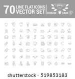 vector set of flat graphic icon ... | Shutterstock .eps vector #519853183