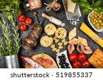 italian food ingredients | Shutterstock . vector #519855337