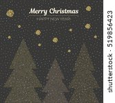 vector illustration gold dotted ... | Shutterstock .eps vector #519856423