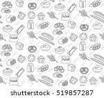bakery seamless pattern. line ... | Shutterstock .eps vector #519857287