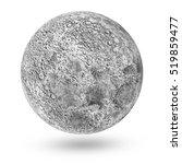 miniature moon icon isolated on ... | Shutterstock . vector #519859477