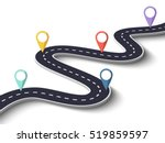 winding road on a white... | Shutterstock .eps vector #519859597