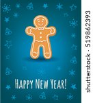 greeting card with happy new... | Shutterstock .eps vector #519862393