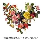 flower heart sketch graphic... | Shutterstock . vector #519870397