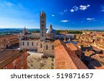 view of siena cathedral  duomo... | Shutterstock . vector #519871657