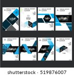 annual business report cover... | Shutterstock .eps vector #519876007