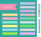 set of cute colorful striped... | Shutterstock .eps vector #519882523