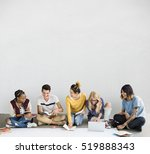 diversity students friends... | Shutterstock . vector #519888343