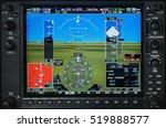airplane glass cockpit display... | Shutterstock . vector #519888577