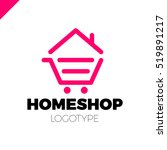 real estate house logo icon... | Shutterstock .eps vector #519891217