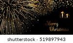 merry christmas background.... | Shutterstock .eps vector #519897943