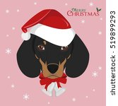 christmas greeting card.... | Shutterstock .eps vector #519899293