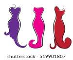 logo plus size women. curvy... | Shutterstock .eps vector #519901807