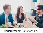 group of businesspeople talking ... | Shutterstock . vector #519924127