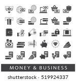 set of line money and business... | Shutterstock .eps vector #519924337