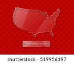 united states map   clear glass ... | Shutterstock .eps vector #519956197