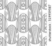 black  white seamless pattern... | Shutterstock .eps vector #519959587